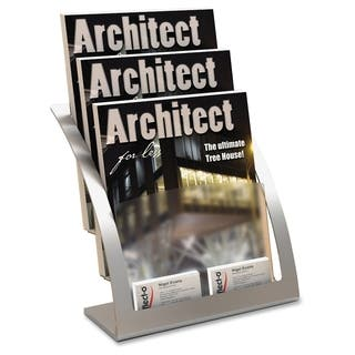 Deflect-o Contemporary Literature Holder - Silver|https://ak1.ostkcdn.com/images/products/12120683/P18980277.jpg?impolicy=medium