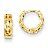Versil 14k Yellow Gold Hinged Hoop Earrings