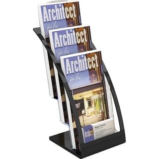 Deflect-o 3-tier Contemporary Leaflet Holder - Black
