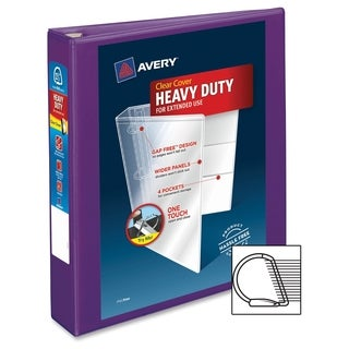 Avery One Touch EZD Heavy-duty Binder - Purple