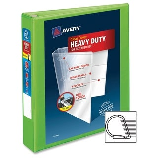 Avery One Touch EZD Heavy-duty Binder - Chartreuse