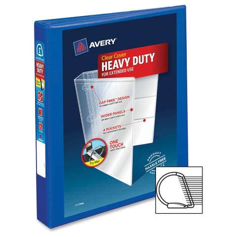 Avery One Touch EZD Heavy-duty Binder - Pacific Blue