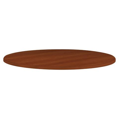HON Cylinder Base Round Tabletop Table - Cognac