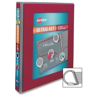 Avery UltraLast One Touch Slant Ring View Binders - Red