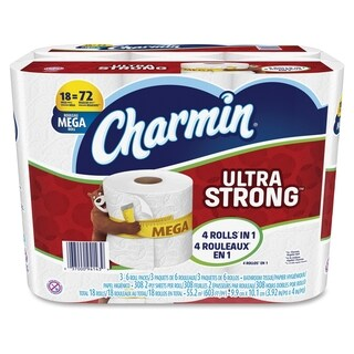 Charmin Ultra Strong Bath Tissue - White (18/Pack)