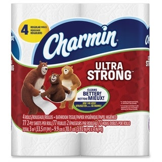 Charmin Ultra Strong White Bath Tissue (Pack of 4)