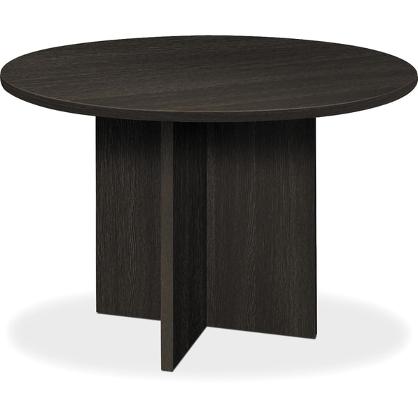 Shop Basyx By HON BL Laminate Xbase Round Conference Table - Espresso conference table