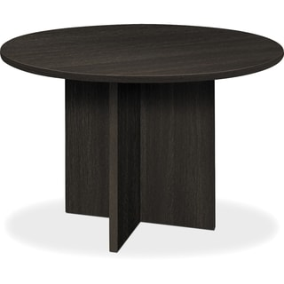 Basyx By HON BL Laminate X Base Round Conference Table   Espresso