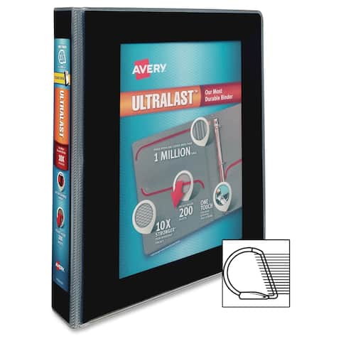 Avery UltraLast One Touch Slant Ring View Binders - Black