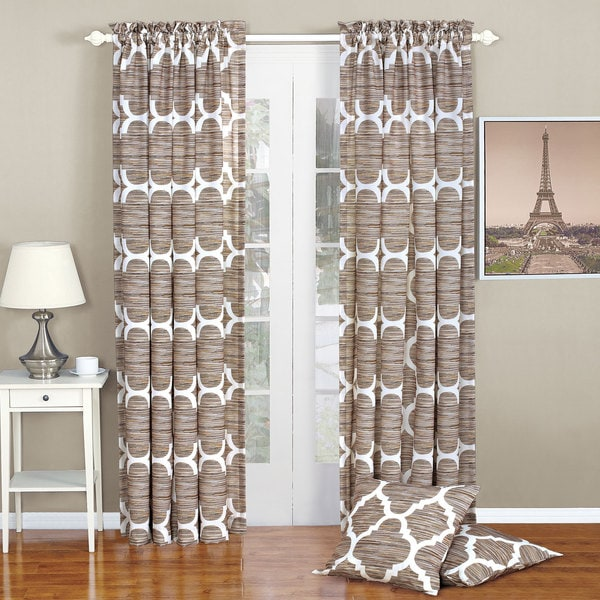 Serenta Honor Curtain Panel Pair with Coordinating Throw Pillow Covers