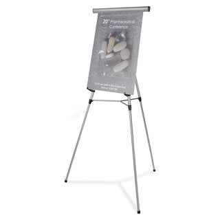 MasterVision Presentation Easel - Silver