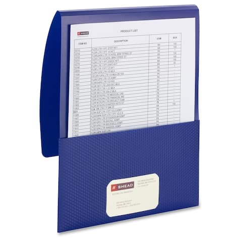 Smead Organized Up Poly Stackit Folders - Dark Blue (Or Midnight Blue) (5/Pack)