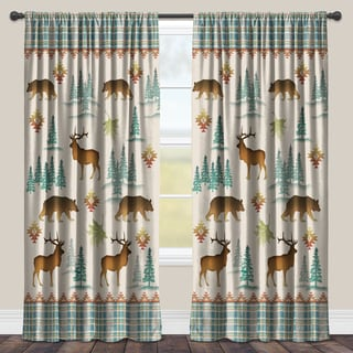 Laural Home U0027Into The Woodsu0027 Multicolored Room Darkening Window Curtain |https:/
