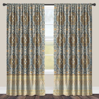 Laural Home Ornate Pattern Room-darkening Window Curtain