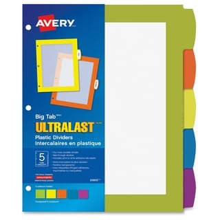 Avery Write & Wipe Square Sheets, 254 x 254 mm - Multi (5/Set)