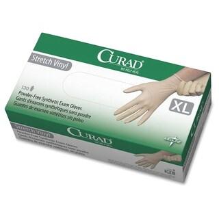 Medline Powder-free Stretch Vinyl Exam Gloves - Cream (130/Box)