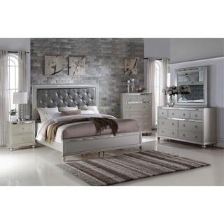 LYKE Home Nevaeh Silver Bed