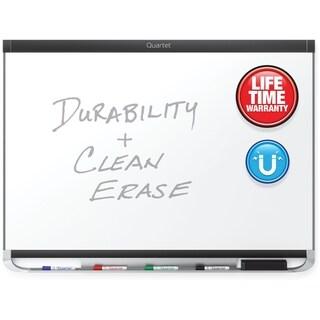 Quartet Prestige 2 DuraMax Porcelain Magnetic Whiteboard - Black W/Aluminum