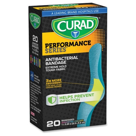 Curad Colored Antibacterial Bandages - Assorted (20/Box)
