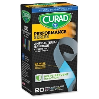 Curad Extra Long Antibacterial Bandages - Assorted (20/Box)