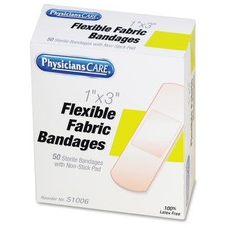 First Aid Only PhysiciansCare Fabric Bandages(50/Box)
