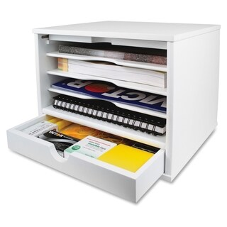Victor Pure White Collection Wood Desktop Organizer - White