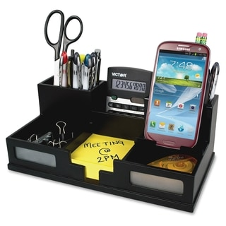 Victor Phone Holder Desk Organizer - Black
