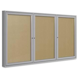 Ghent 3-Door Outdoor Enclosed Vinyl Bulletin Board - Aluminum https://ak1.ostkcdn.com/images/products/12120978/P18980685.jpg?impolicy=medium