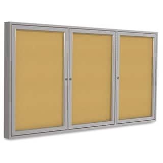 Ghent 3-Door Indoor Enclosed Bulletin Board - Satin Aluminum https://ak1.ostkcdn.com/images/products/12120980/P18980687.jpg?impolicy=medium