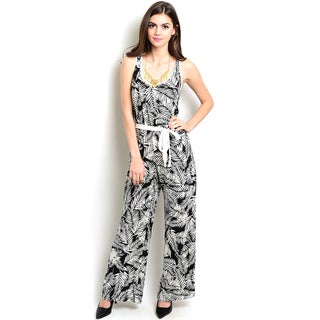 Shop The Trends Women's Sleeveless Jumpsuit With Scooped Neckline