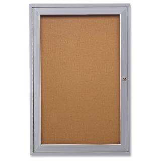 Ghent 1-Door Enclosed Indoor Bulletin Board - Satin Aluminum https://ak1.ostkcdn.com/images/products/12120991/P18980693.jpg?impolicy=medium