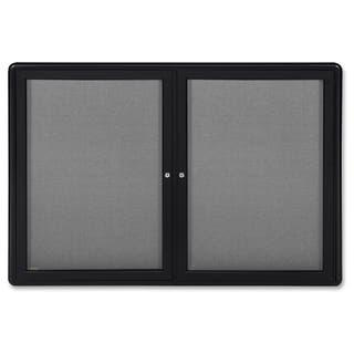 Ghent 2-Door Ovation Enclosed Fabric Bulletin Board - Black https://ak1.ostkcdn.com/images/products/12120993/P18980695.jpg?impolicy=medium