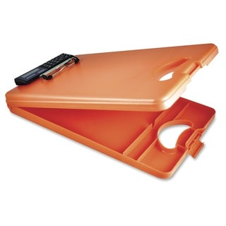 Saunders DeskMate II 00543 Portable Storage Clipboard - Orange