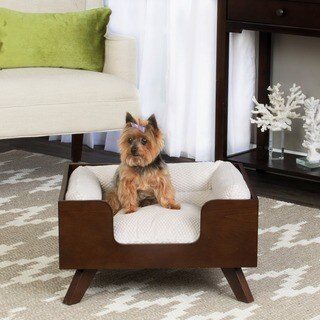 HomePop Decorative Mid Century Pet Bed
