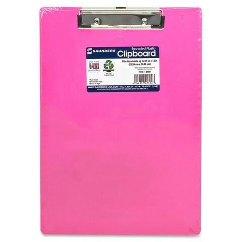 Saunders Neon Plastic Clipboard - Neon Pink