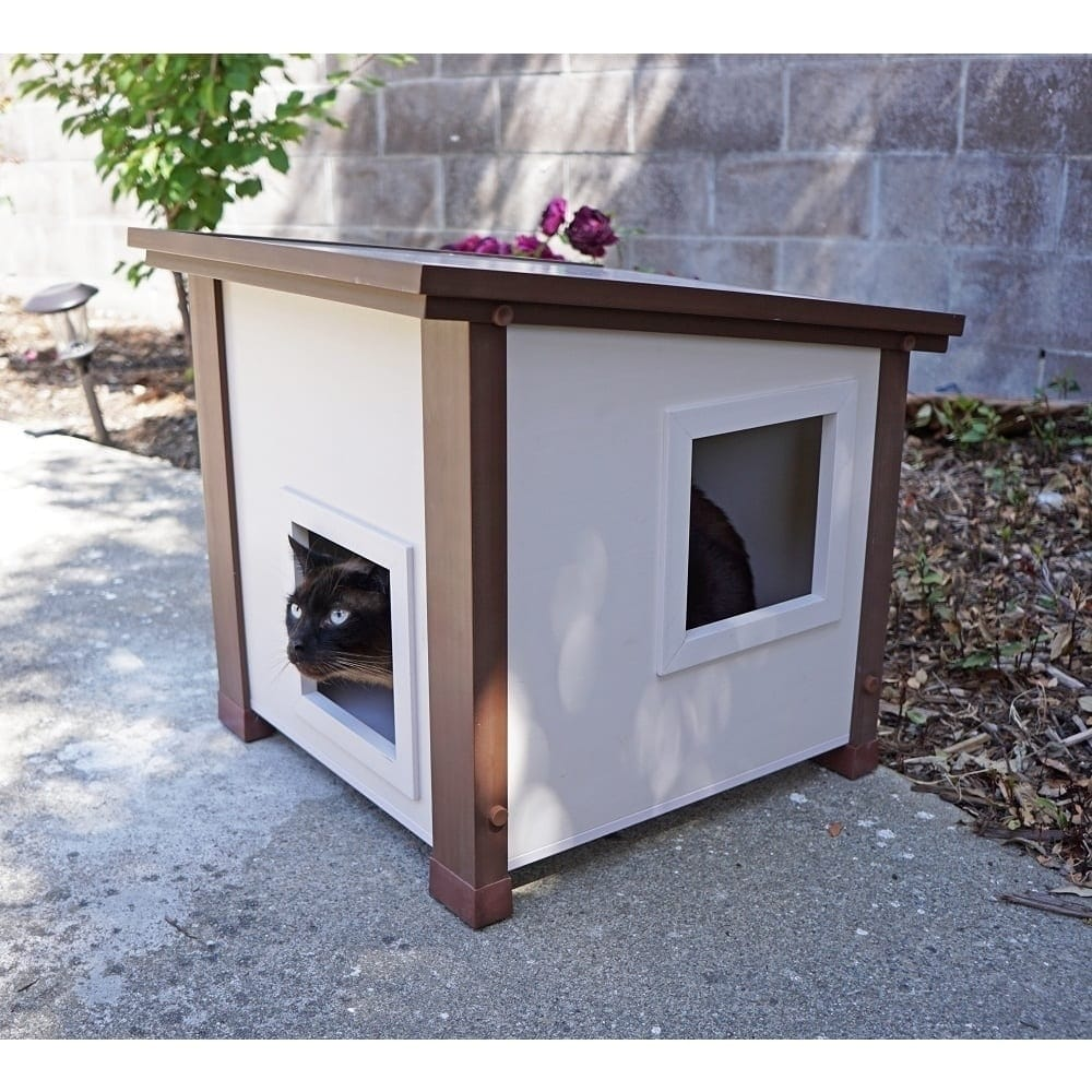New Age Pet ecoFLEX Outdoor Feral Cat House, Multi