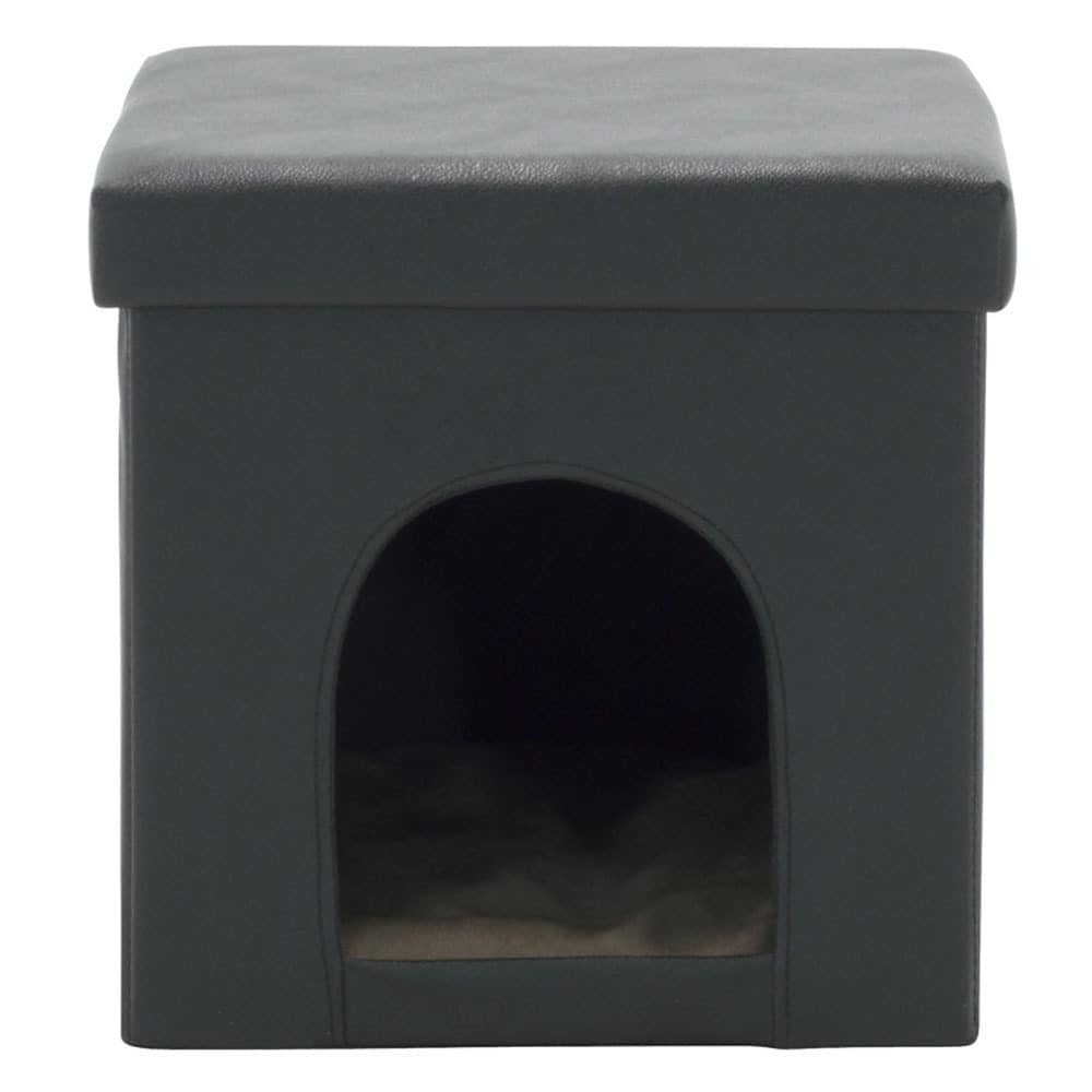 Offex Home Black/Grey/Brown Collapsible Pet Bed and Folda...