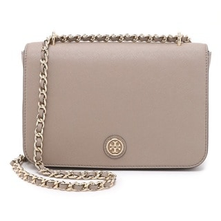 Tory Burch Robinson French Grey Convertible Shoulder Handbag