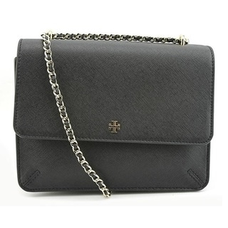 Tory Burch Robinson Black Convertible Shoulder Handbag