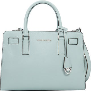 Michael Kors Dillon Celadon Saffiano Green Leather Satchel Handbag