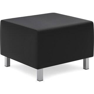 Basyx by HON Leather Lounge Ottoman - Black