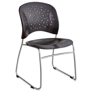 Safco Reve Sled Base Guest Chair - Black (2/Carton)