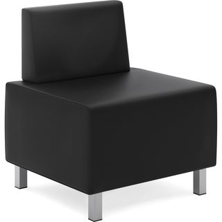 Basyx by HON Modular Leather Lounge Chair - Black