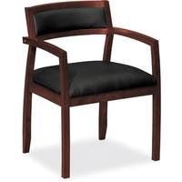 Basyx by HON Wood Guest Chair - Mahogany