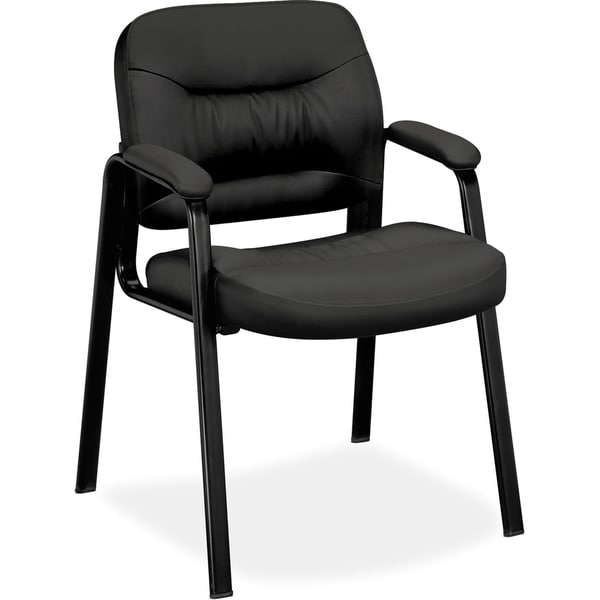 Basyx by HON Leather Guest Chair - Black  sc 1 st  Overstock.com & Shop Basyx by HON Leather Guest Chair - Black - Free Shipping Today ...