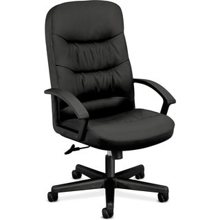 Basyx by HON Executive High-back Leather Chair - Black