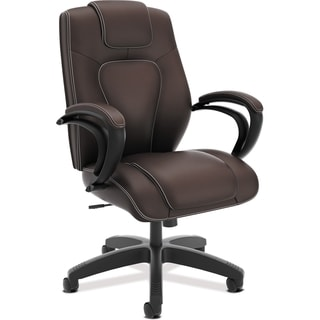 Basyx by HON Executive High-back Chair - Brown