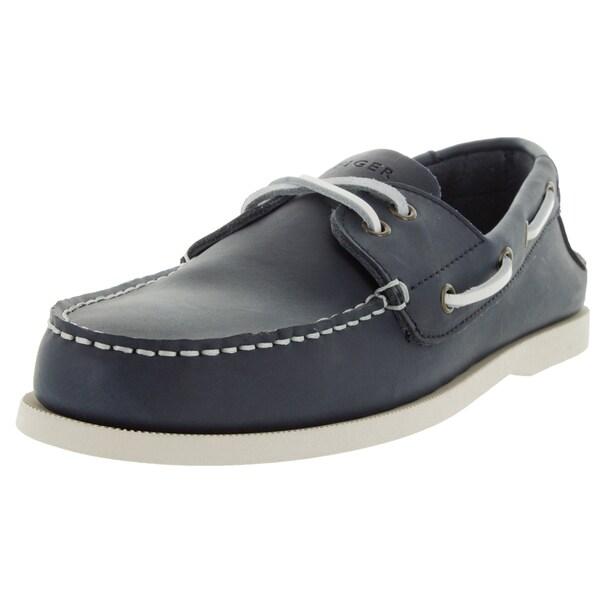 Shop Tommy Hilfiger Men s Bowman Dark Blue Leather Casual Shoe ... 62e77877505