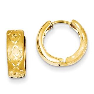 Versil 14k Yellow Gold 5mm Hinged Hoop Earrings