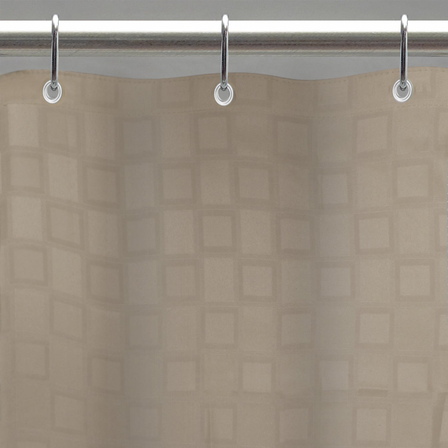 Excell Bowery Tan Fabric Shower Curtain Liner